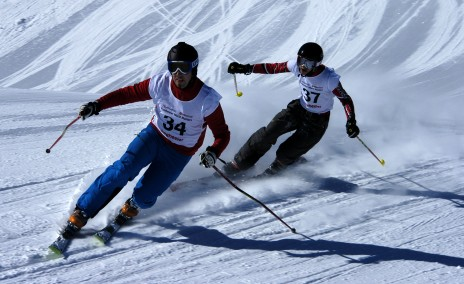 Guillaume Baud and Théo from Les Houches