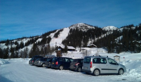 Rjukan Race Hill from the town at the bottom!
