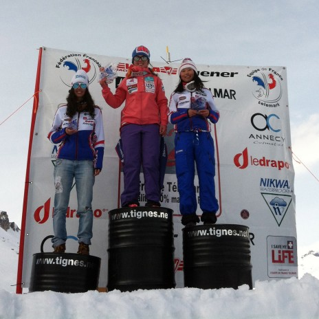Junior Podium with Kaline   Osaki and Argeline Tan-Bouquet from the French Team
