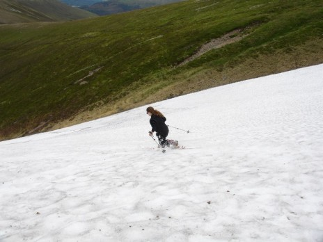 Telemark Skiing on the 31st July in Scotland! That may be a first!