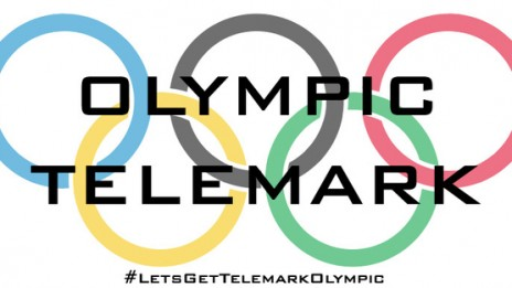 Olympic Telemark Logo graphic for Jasmin Taylors Olympic bid to make Telemark Skiing an Olympic Sport