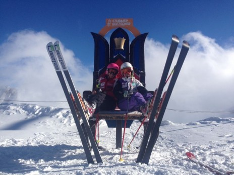 The 2 British girls at the top of Stubai Glacier!