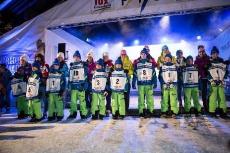 Hintertux World Cup Opening Ceremony: I took to the stage to collect my bib - lucky number 7!