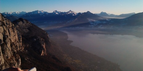 I took just over an hour and a half but we climbed over 800 vertical meters! The view from the top of Mont Baron.