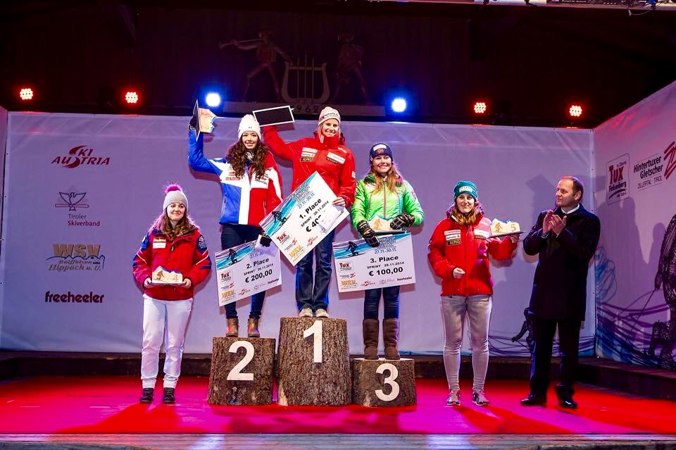Day 1 - Women's Podium (L to R) Me, Argeline Tan (FRA),