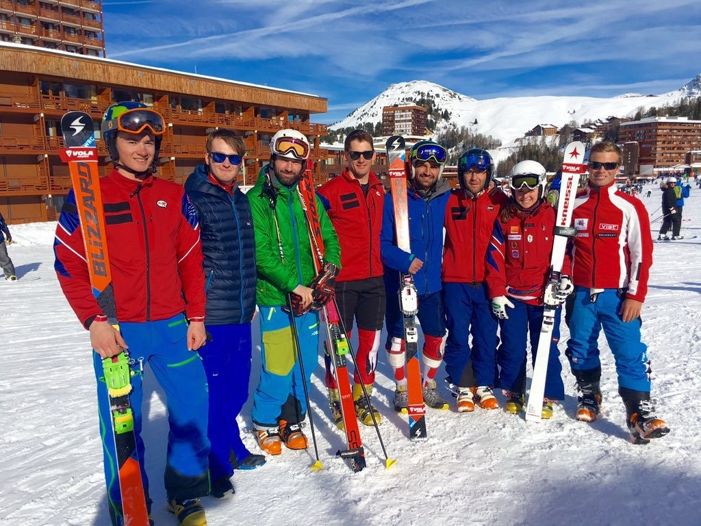 The GB Telemark Ski Team in La Plagne (Photo courtesy of the BBC)