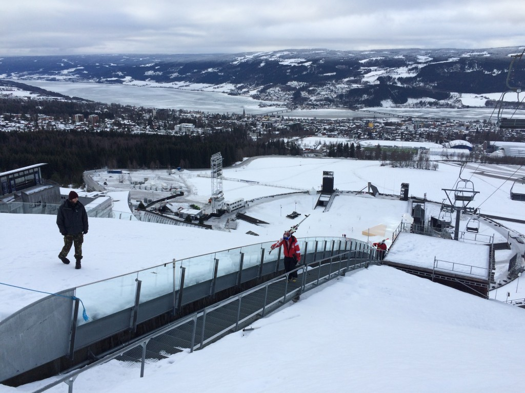 The ski jump, the opening ceremony setting