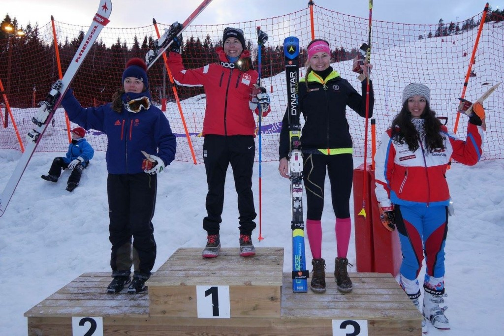 Norwegian Championship (L to R) Jasmin Taylor GBR, Beatrice Zimmerman SUI, Johanna Holzmann GER, Argeline Tan Bouquet FRA