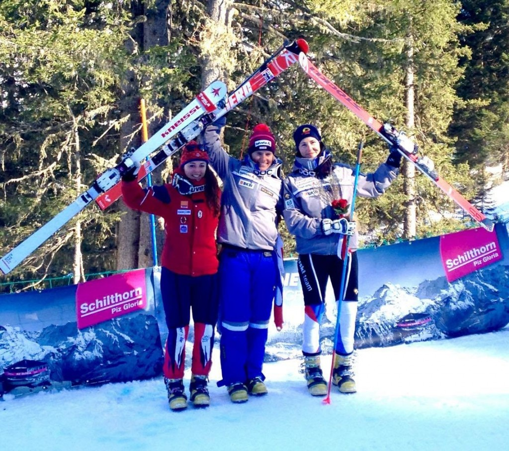 (L to R) Jasmin Taylor #2 (GBR), Amelie Reymond #1 (SUI), Beatrice Zimmerman #3 (SUI)