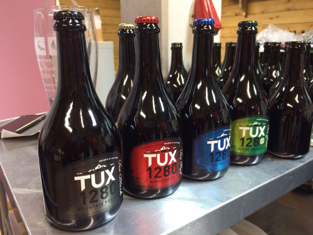 Piste colour coded beers! (Photo by Tara Parks)