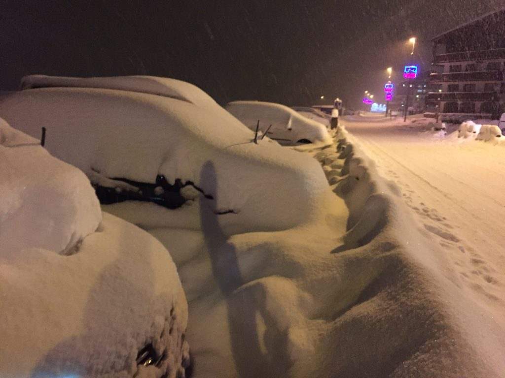 There's a lot of snow in Tignes