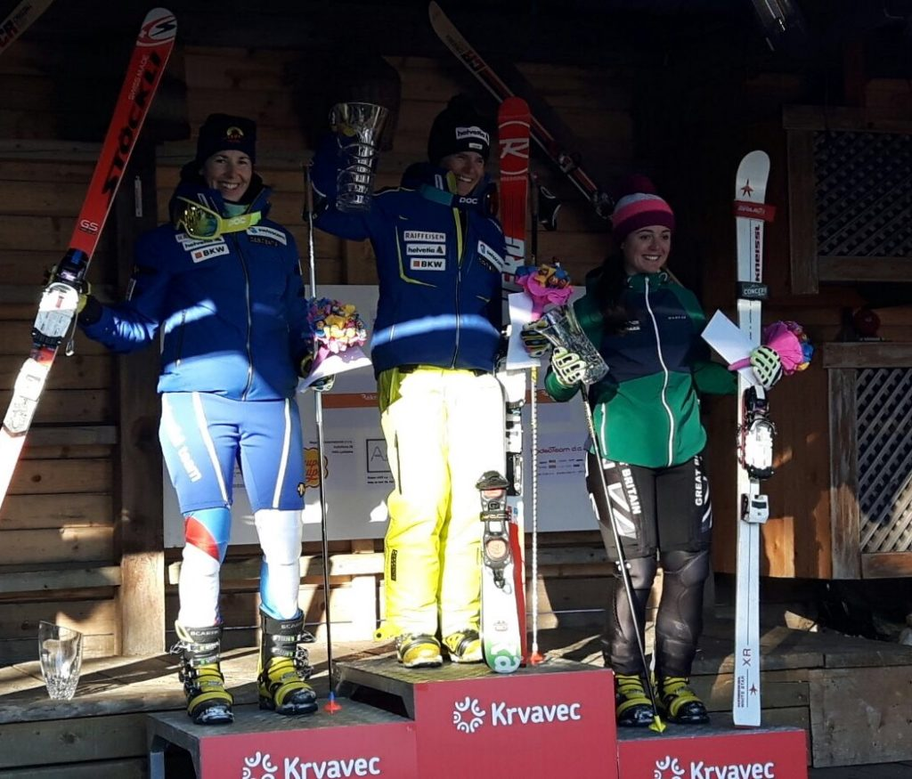 Parallel Sprint (L to R) Beatrice Zimmermann (SUI), Amelie Reymond (SUI), Jasmin Taylor (GBR)