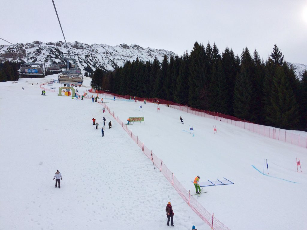 The race piste in Oberjoch, Germany