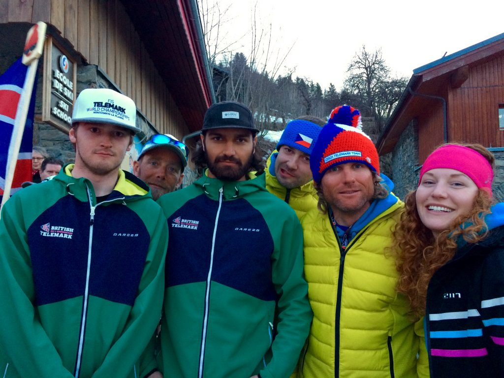 The GB Telemark Ski Team with the Czech Telemark Ski Team
