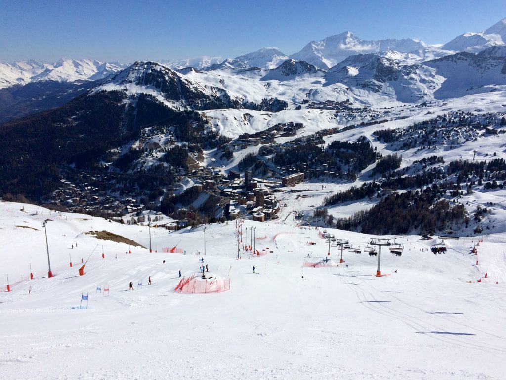The race piste in La Plagne