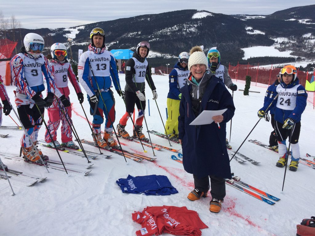 The bib/course selection with Andreja Jovan, FIS referee