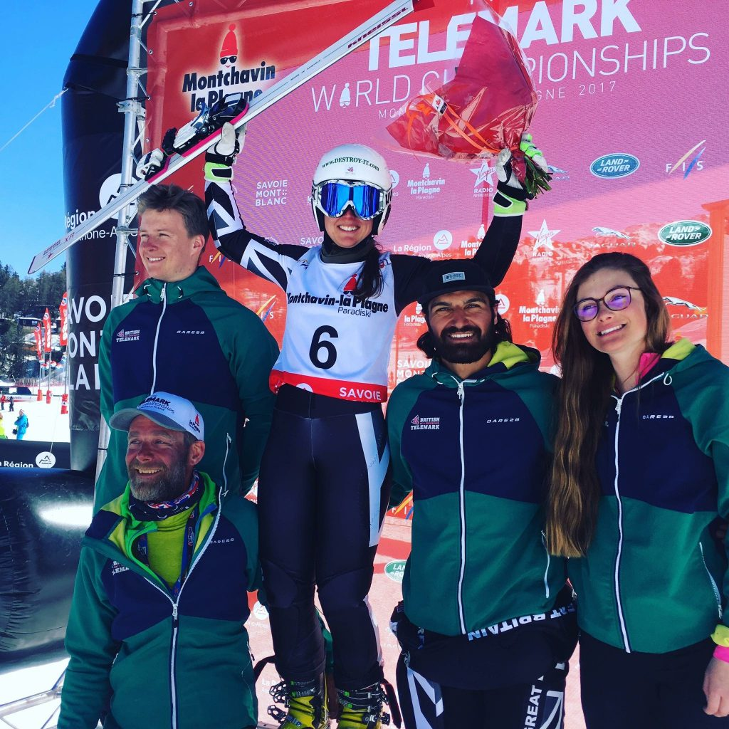 Enjoying my medal with my coach, Seb Mansart and team-mates (L to R) Alec Dixon, Louis Hatchwell and Naila Cardwell