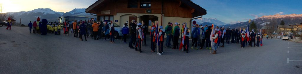 The nations preparing for the opening ceremony in Montchavin