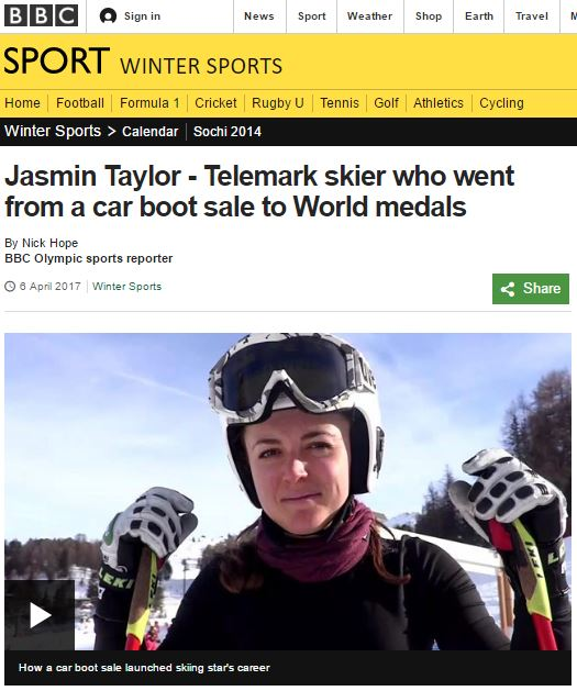 Jasmin Taylor on BBC Sport
