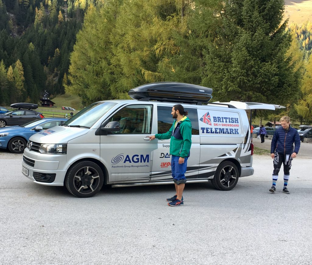 The GB Telemark van provided by Aquatronic Group Management (AGM)