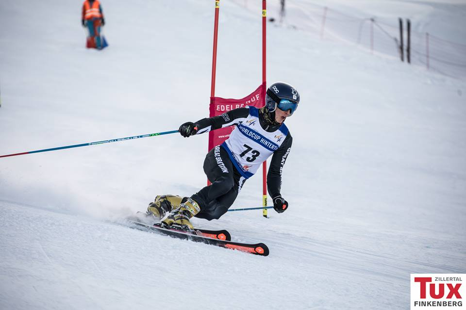 Ben Emsley on course in Hintertux