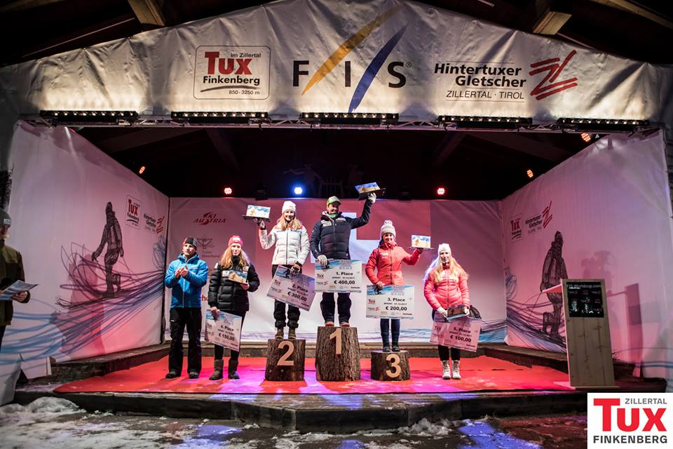 Prize Ceremony in Hintertux