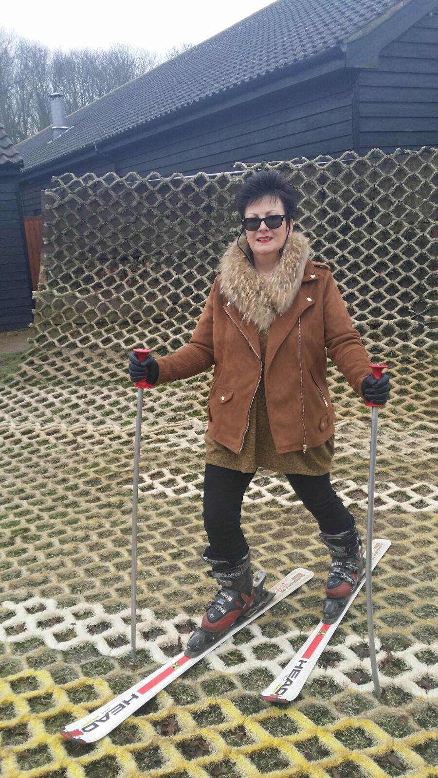 My mum down at the Suffolk Dry Ski Centre in Ipswich, Suffolk