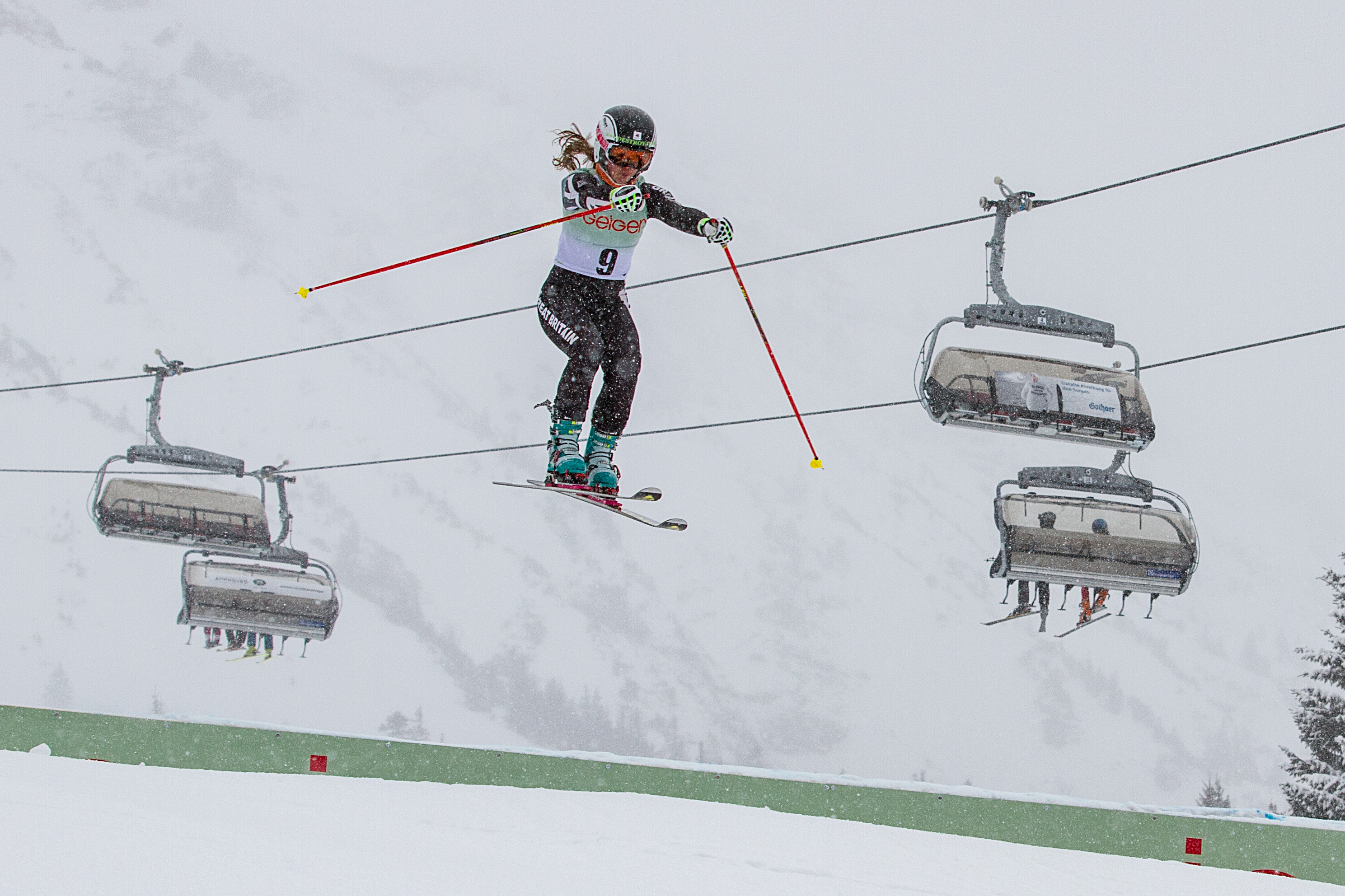 Jasmin Taylor off the jump, photo by Bernhard Krempl