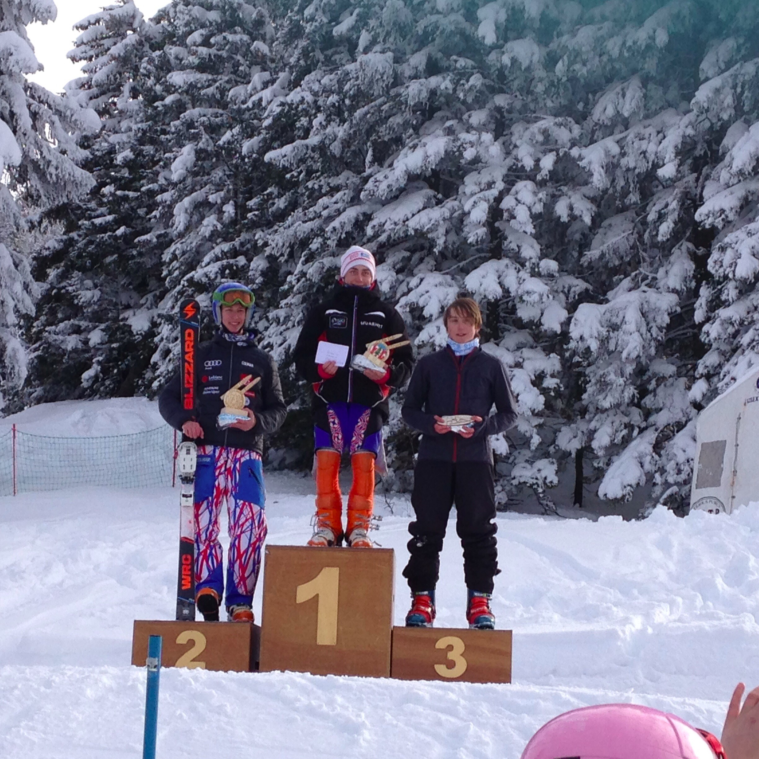 Ben Silva on the podium in Lelex Mont Jura, France