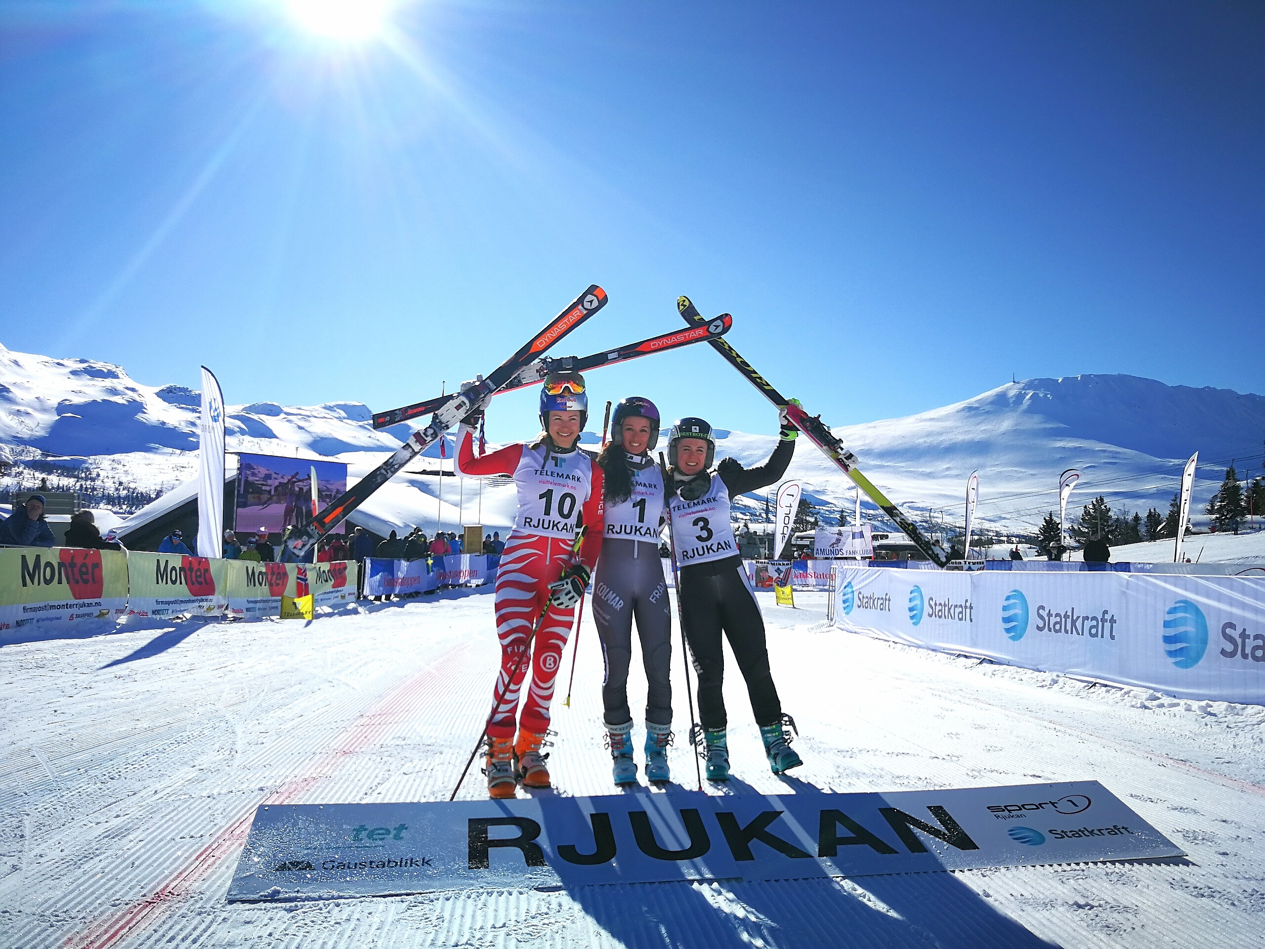 The Sprint podium in Rjukan, Norway
